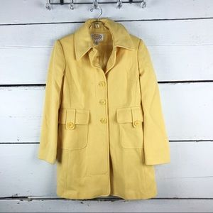 Talbots coat yellow